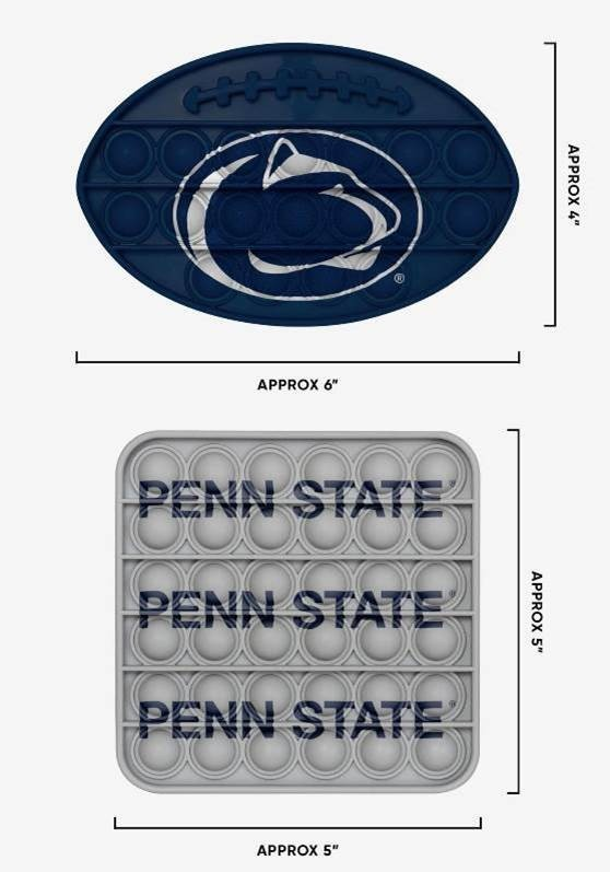 Penn State Nittany Lions 2 Pack Ball & Square Push-Itz Fidget Image a
