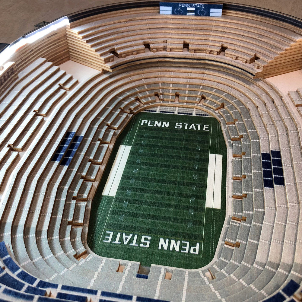 Penn State Nittany Lions Beaver Stadium 25-Layer StadiumViews Lighted End Table Image a