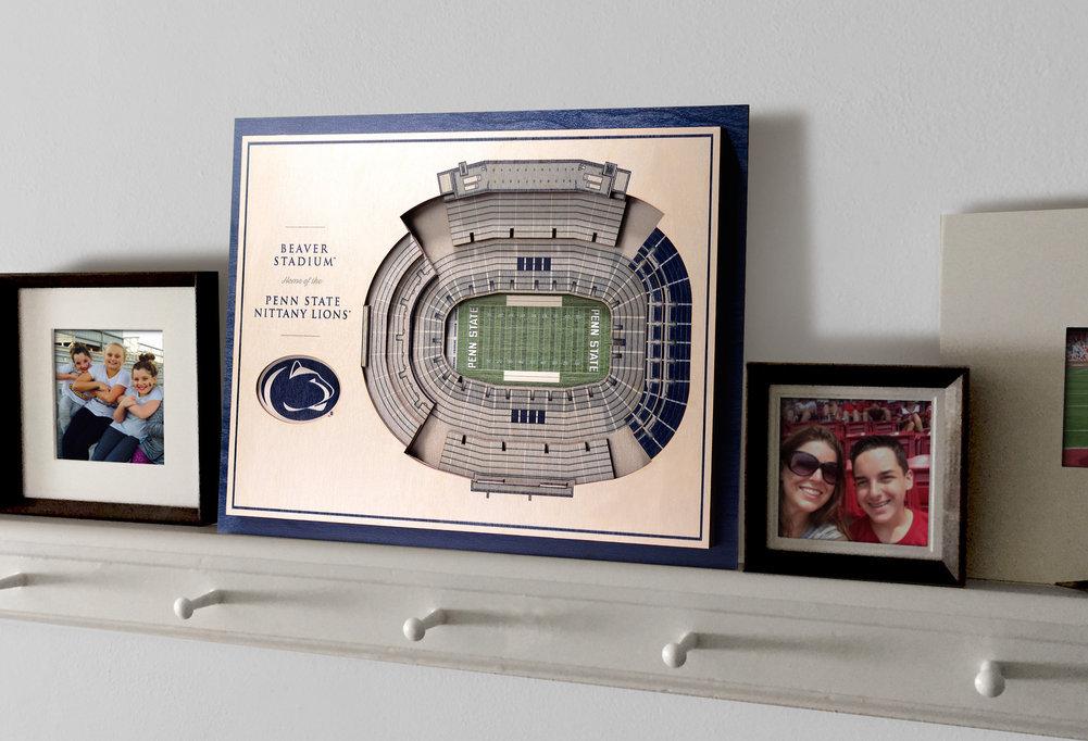 Penn State Nittany Lions Beaver Stadium 5-Layer StadiumViews 3D Wall Art Image a