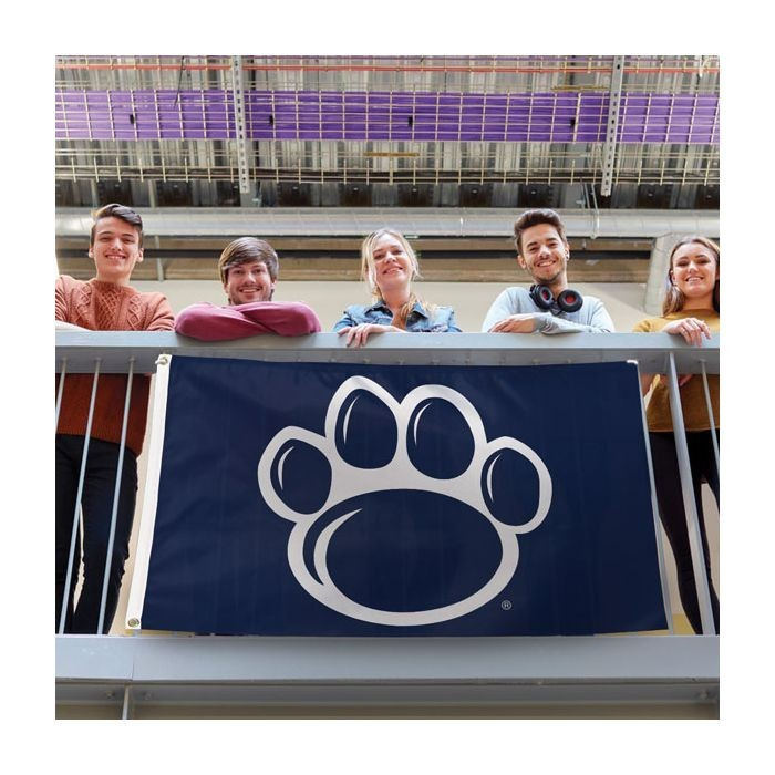 Penn State Nittany Lions Paw Deluxe Flag 3'x 5'  Image a
