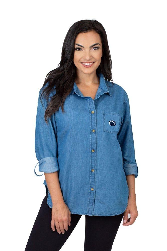 Penn State Nittany Lions Women's Denim Shirt  Image a