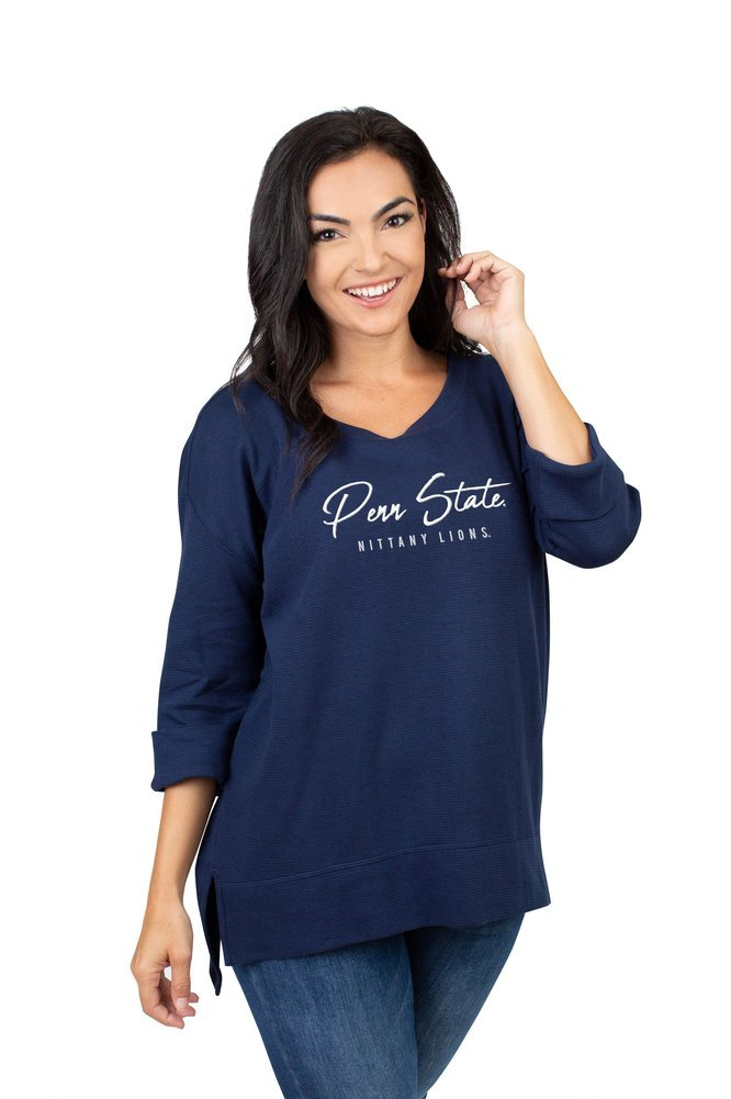 Penn State Nittany Lions Women's Waffle Boat Neck Top  Image a
