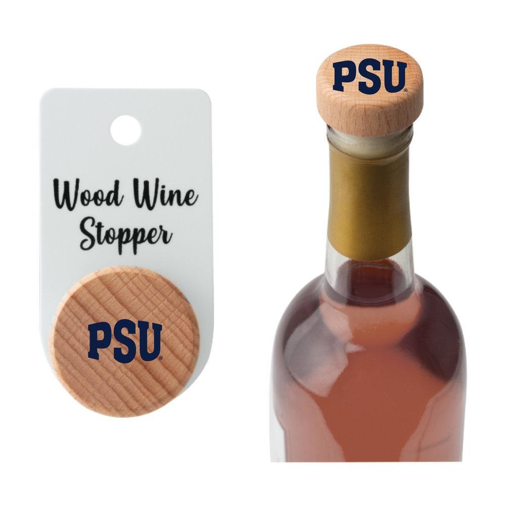 Penn State PSU Wood Bottle Stopper Image a