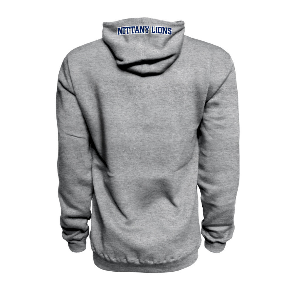 Penn State Embroidered Hooded Sweatshirt Grey Image a