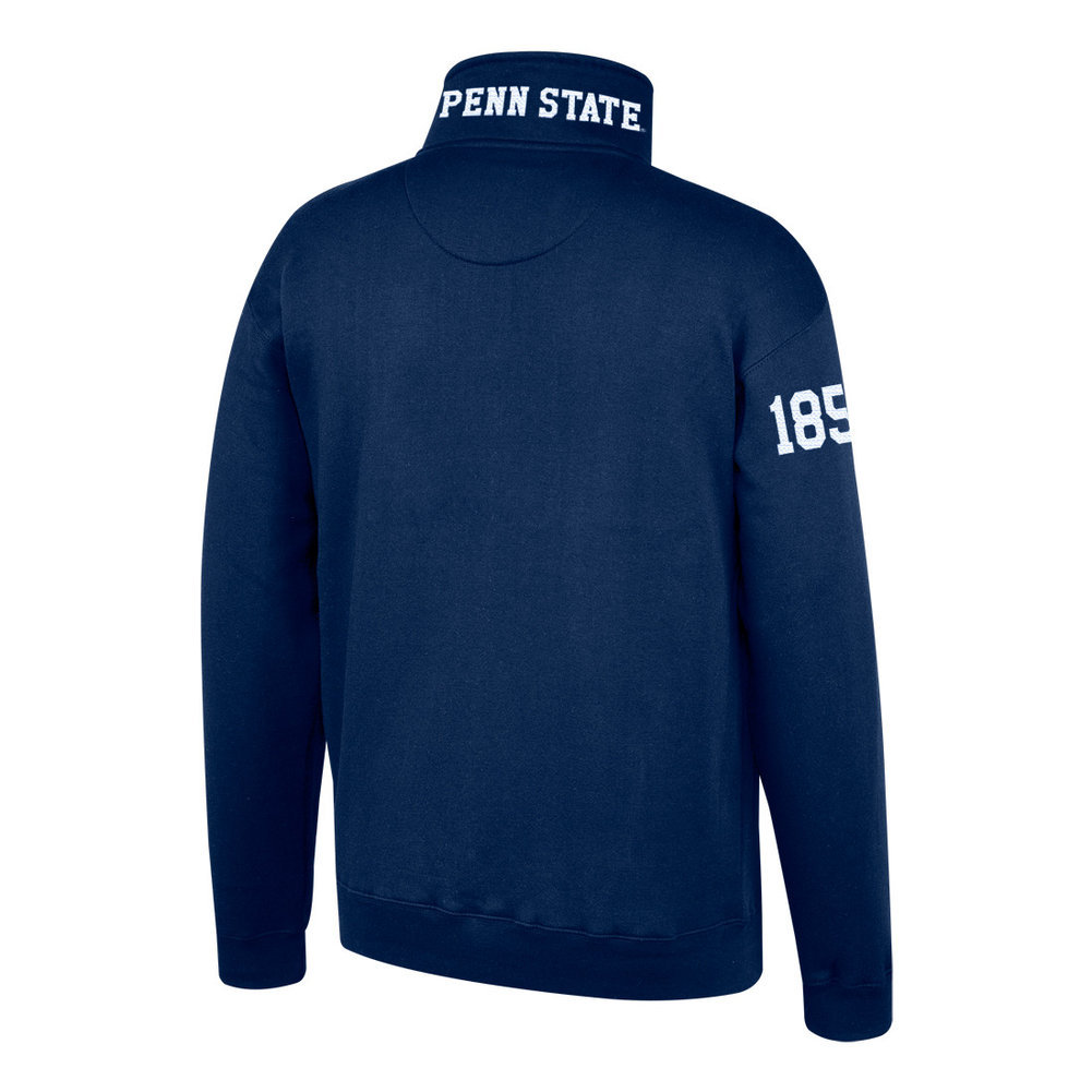 Navy Embroidered Quarter Zip Image a