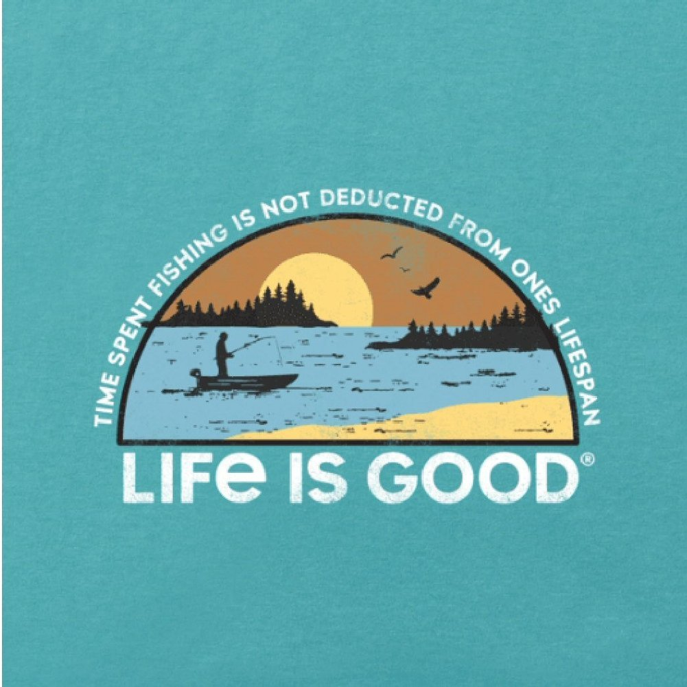 Men's Time Spent Fishing Landscape Crusher Tee Shirt Image a