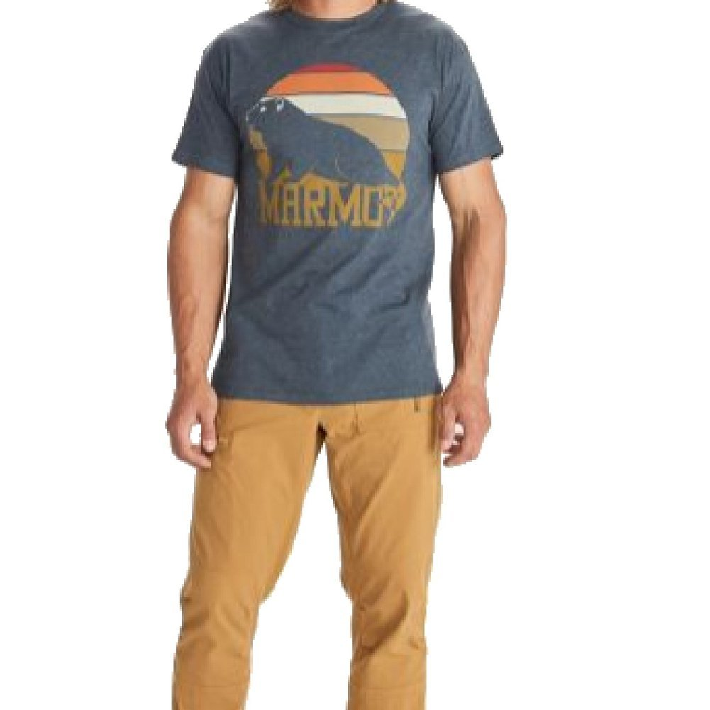 Men's Dawning Marmot Short-Sleeve T-Shirt Image a