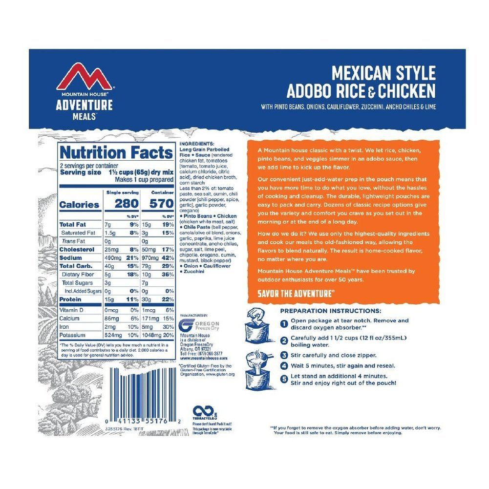 Mexican Adobo Rice & Chicken Pouch Meal Image a