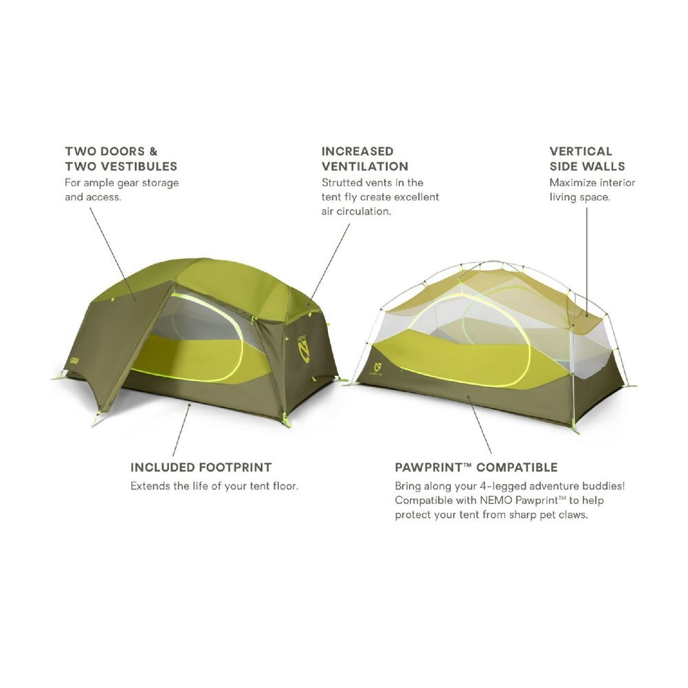 Aurora Backpacking Tent + Footprint--2P Image a