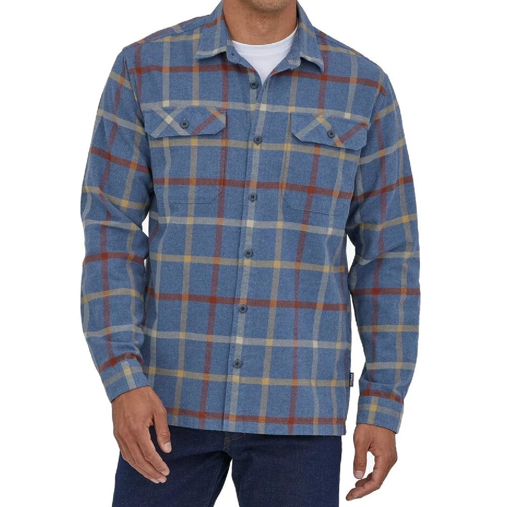 Men's Long-Sleeved Organic Cotton Midweight Fjord Flannel Shirt Image a