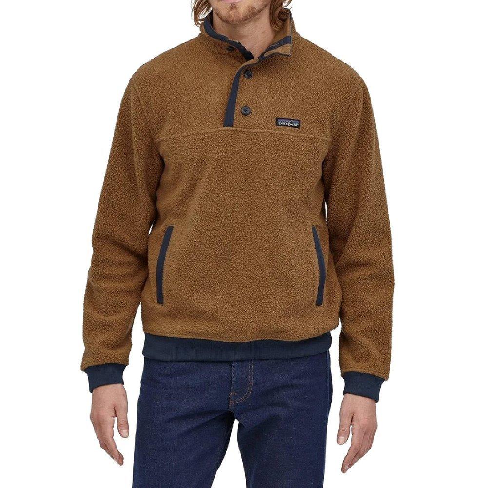 Men's Shearling Fleece Button Pullover Image a