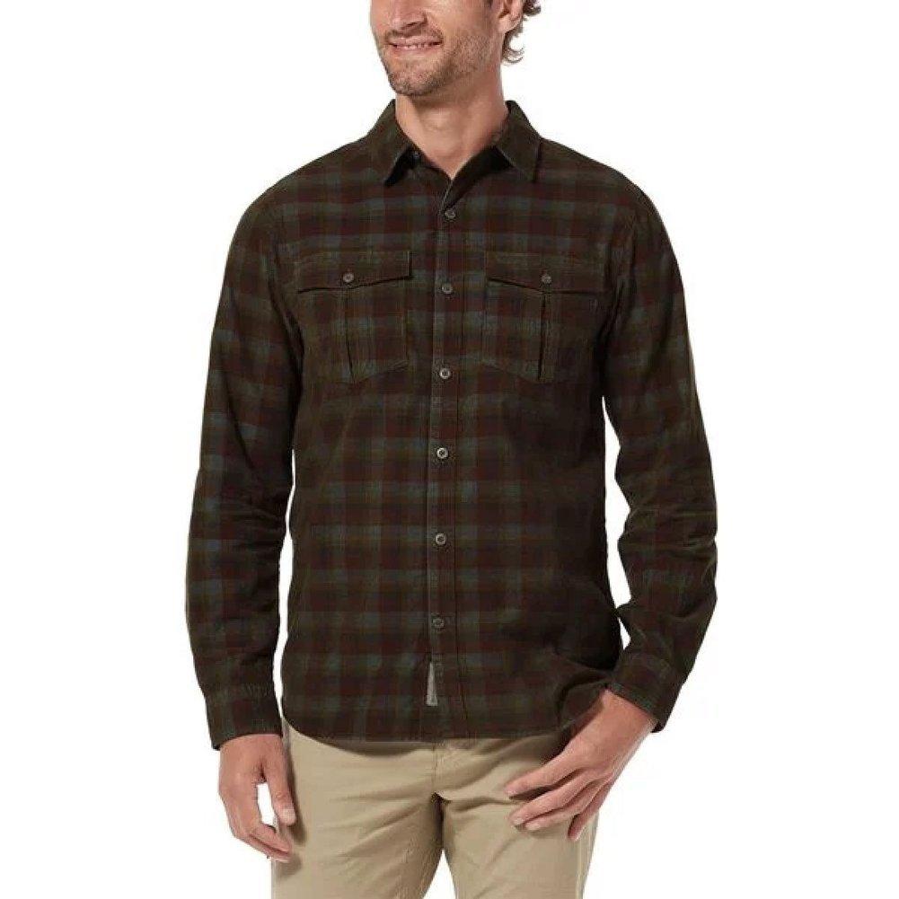 Men's Covert Cord Organic Cotton Long Sleeve Shirt Image a