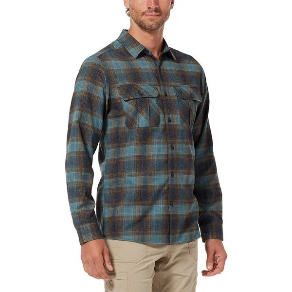 Men's Lost Coast Flannel Plaid Long Sleeve Shirt Image a