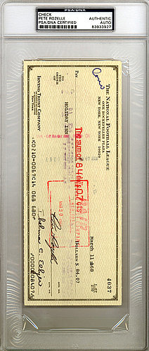 Autographed Checks