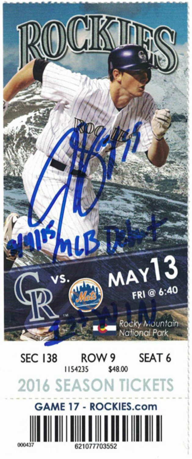 Autographed Tickets and Scorecards