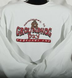 Adult Bedrock-Style Groundhog Day Sweatshirt 2x,3x