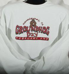 Adult Bedrock-Style Groundhog Day Sweatshirt 2x,3x