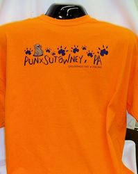 Adult Groundhog Paw T-shirt Orange 2x, 3x