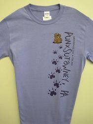 Adult Groundhog Paw T-Shirt Violet 2x, 3x