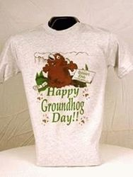 Adult Happy Groundhog Day T-Shirt (wht)