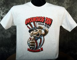 Adult Patriotic Groundhog T-Shirt 2x, 3x