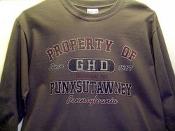 Adult Property of GHD Long-Sleeved T-Shirt-Gray 2x, 3x