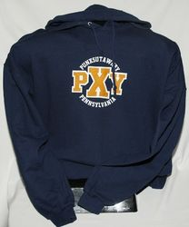 Adult Punxsutawney Felt Hooded Sweatshirt 2x, 3x