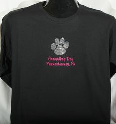 Adult  Rhinestone Paw Long-Sleeved T-Shirt