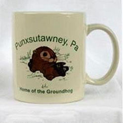 Beige Home of the Groundhog Coffee Mug
