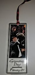 Bookmark - Punxsutawney Phil with Fireworks