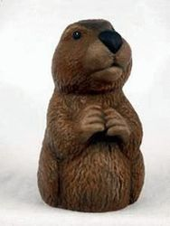 Ceramic  Groundhog  Statue