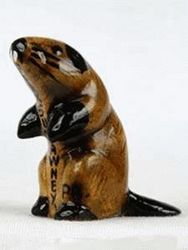 Ceramic Groundhog Statue - Small