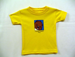 Infant College Kids Baby Phil T-Shirt-Yellow
