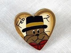 February 2 Heart Tie-Tac/Pin
