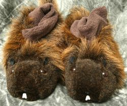 Fur Groundhog Slippers