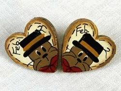 February 2 Heart Earrings