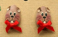 Groundhog Egg-shaped Earrings