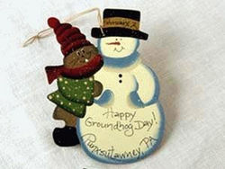 Phil and Snowman Ornament