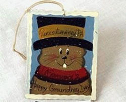 Punxsutawney Phil Stamp Ornament