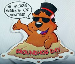 Groundhog Cut Out Decoration
