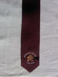 Groundhog Day Necktie - Burgandy