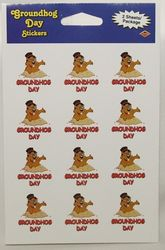 Groundhog Day Sticker (24 per pack)