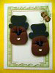 Groundhog Earrings-Top Hat