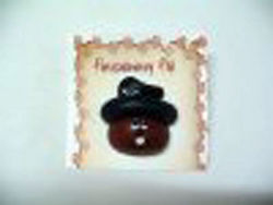 Groundhog Top Hat Pin