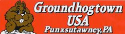 Groundhog Town Bumper Sticker