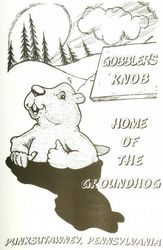 Home of the Groundhog Coloring Poster A