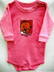 Infant Baby Phil Onesie long-sleeve pink