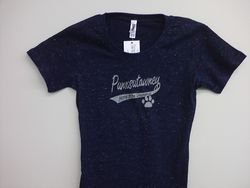 Junior Girls Sparkle  Swoop T-Shirt(navy)