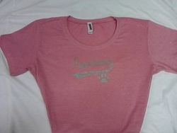 Junior Swoop Sparkle T-Shirt(Pink)2X