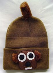 Knit Groundhog Hat